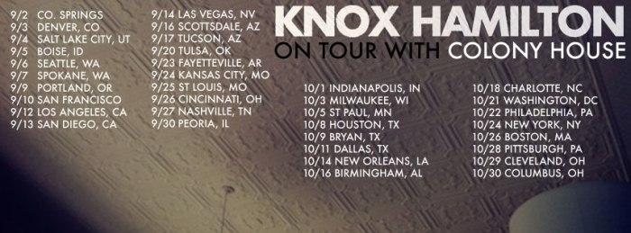Knox Hamilton Tour Schedule