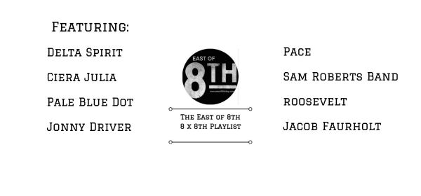 East of 8th Spotify Playlist September 5