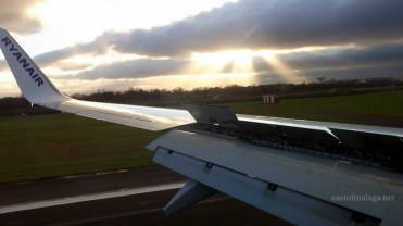 Landing at Dublin airport, Ireland
