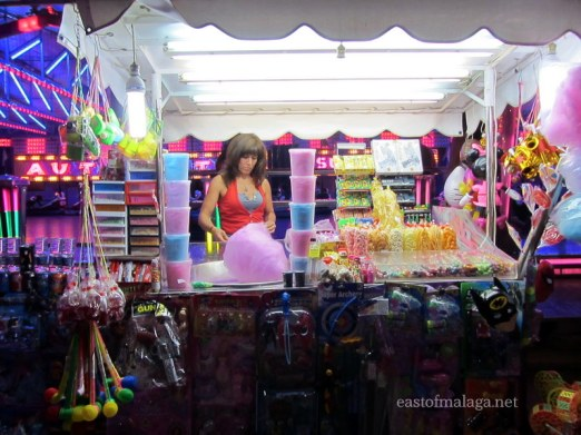 Candy floss at Torrox feria, Andalucia, Spain