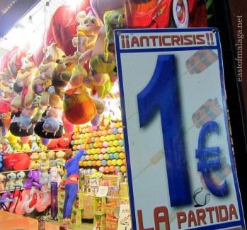 Anti-crisis prices at Torrox feria, Andalucia, Spain