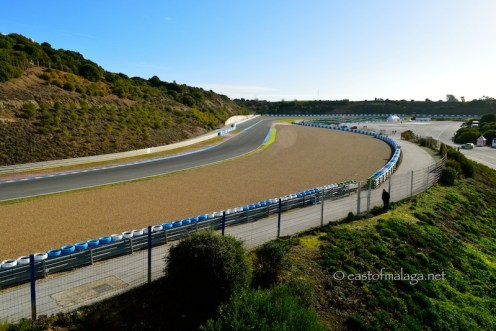 View of the track at Jerez, Spain