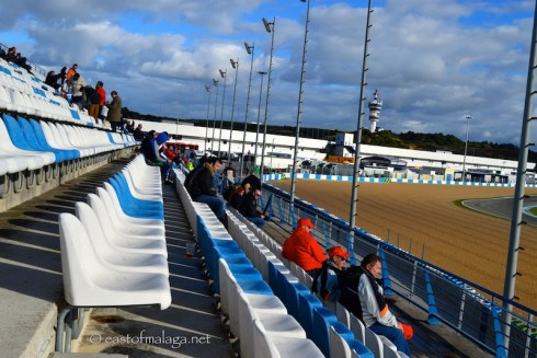 Enjoying the F1 winter testing at Jerez, Spain