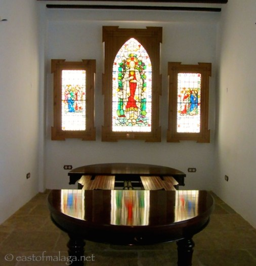 Stained glass windows in the crystal museum, Malaga