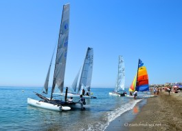 Catamarans at Torre del Mar, Spain