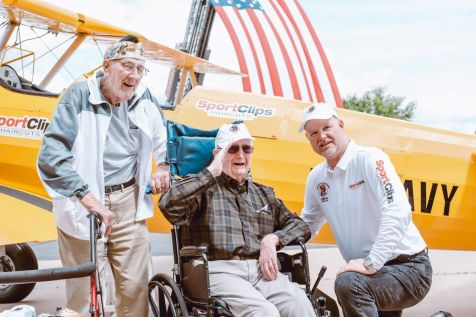Dream Flyer Bill Matre – Bill served in the Navy as a Mid-Shipman. He served from 1945-1948. He was involved in Naval Pilot Training and trained in a Stearman.