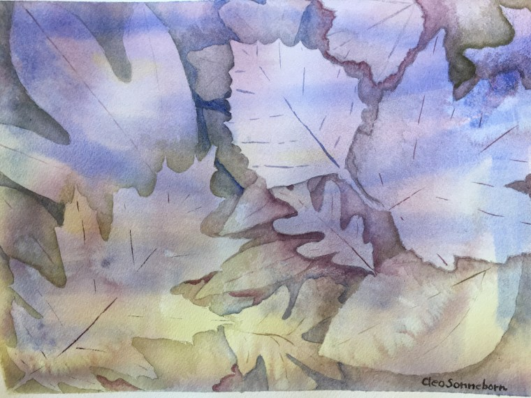 With just paper, brush and watercolor paint Cleo Sonneborn finds those hours when time and everyday concerns recede.