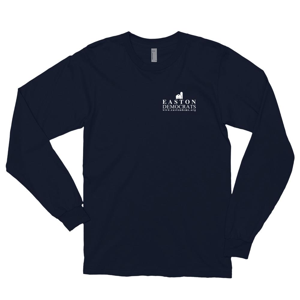 American Apparel Adult Navy Long Sleeve T-Shirt