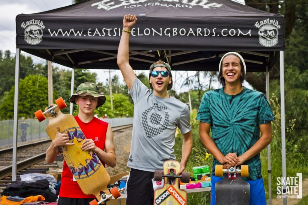 Sol Bilderback 2nd (youngest podium finisher ever age 14 on left), Colby Cummings 1st (defending Champion in center), Miguel Aldrete 3rd (right)