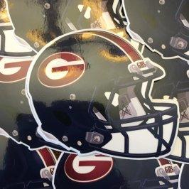 Garfield Bulldogs Football Helmet 2013