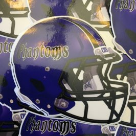 Cathedral Phantoms Football Helmet
