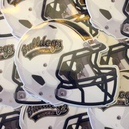 Garfield Bulldogs Football Helmet