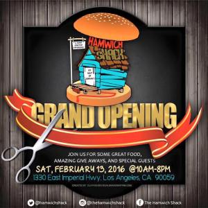 Hamwich Shack Grand Opening