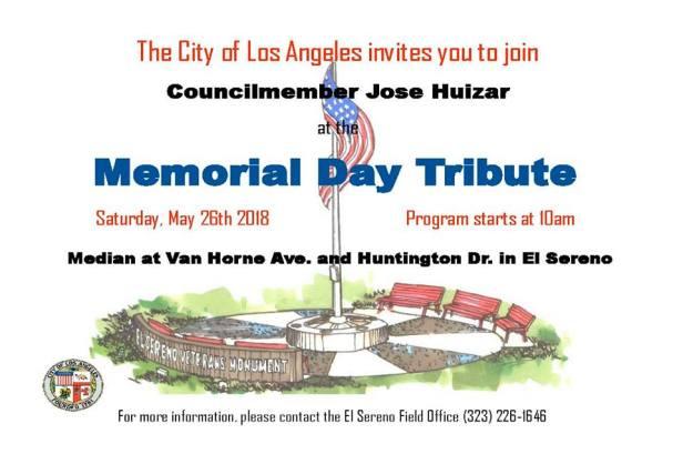 El Sereno Memorial Day Tribute 2018