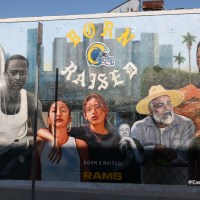 Born X Raised Rams Mural in East LA