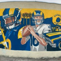 New L.A Rams Mural up in East L.A
