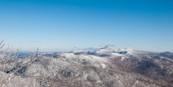 A view of Camel's Hump from the Mad River single chair.