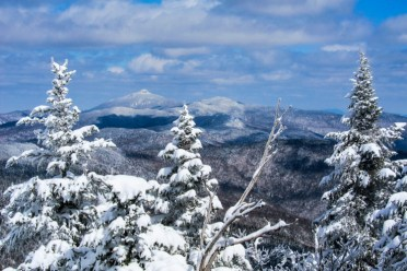 A fine view of Camel's Hump from Fall Line at Mad River Glen yesterday.