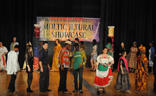 The Multicultural Affairs annual fusion showcase allows students to experience different ethnicities in one setting. The show featured 11 different talent portions and 21 different countries through cultural attire. (Photograph Courtesy of ETSU)