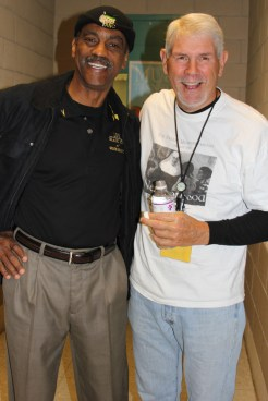 Exxon Mobil retirees, Vernon Durden from 100 Black Men of Greater Beaumont & Rickey Melancon from Saint Katharine Drexel