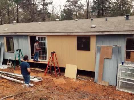 back of Mobile home Renovation