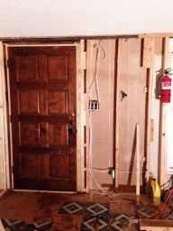 New door on Mobile Home - East Texas Homestead