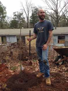 Eric standing next to the new lapins cherry tree 2