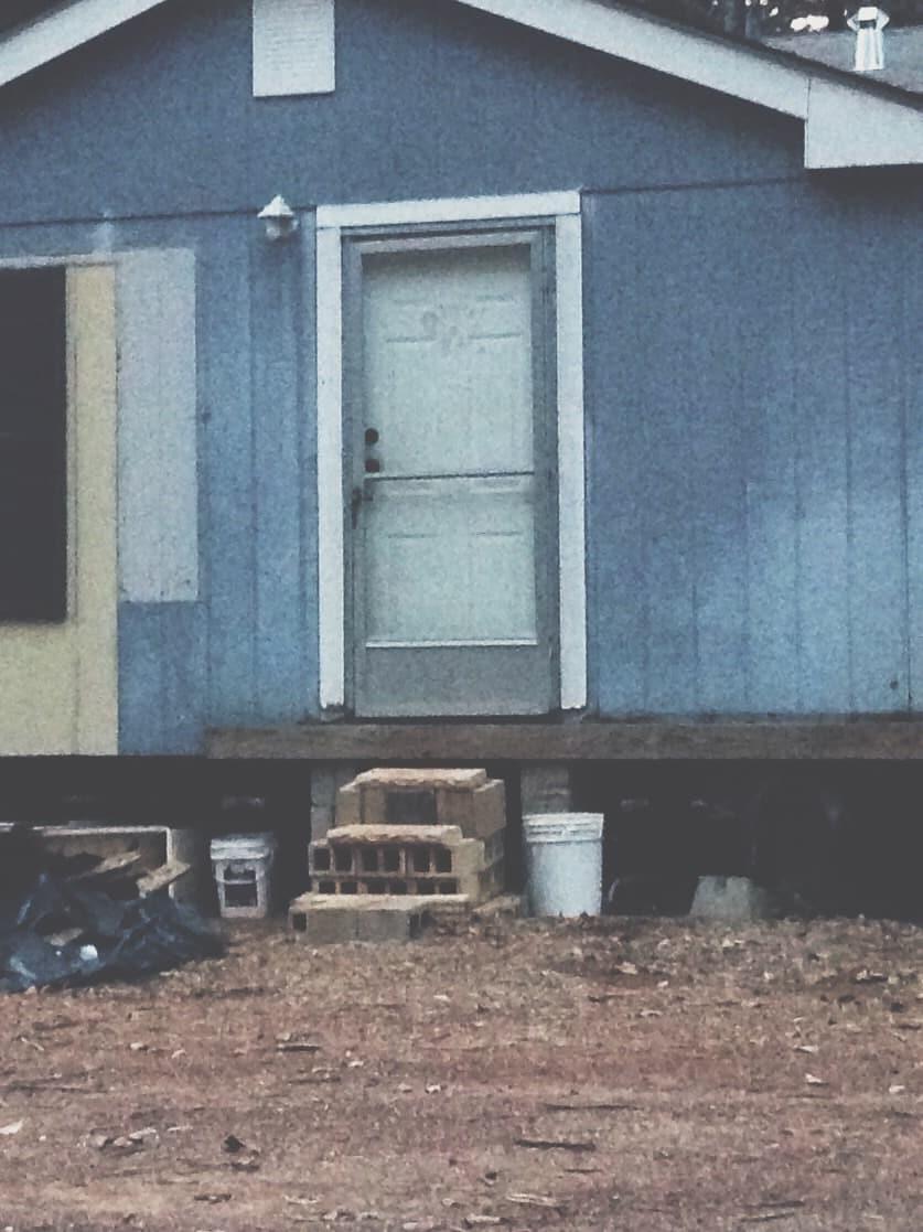 Original mobile home front door