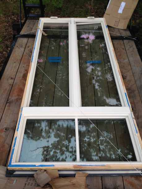 Large window (9 x 4 feet) we received as a gift from a friend.