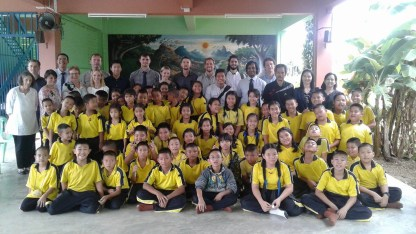 SEE TEFL Teachers and students at school assembly