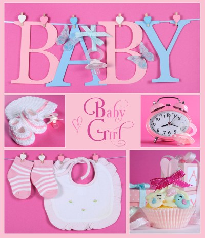 baby girl icon collage