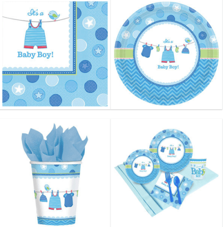 Shower Baby boy with love party theme