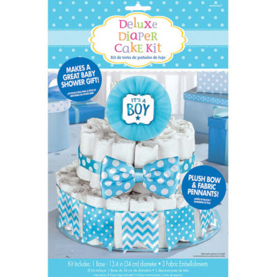 do it yourself boy's diaper cake craft kit