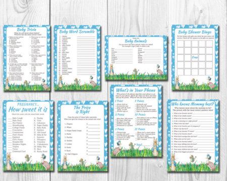 8 Perter Rabbit Baby shower games download