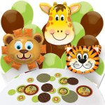 Jungle safari baby shower theme balloons decorating kit