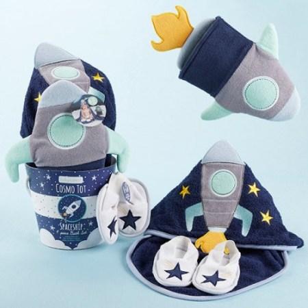 Astronaut Space baby bathing gift set