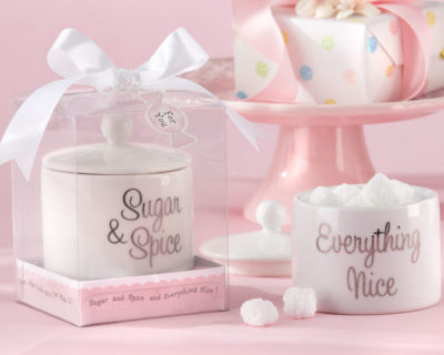 sugar and spice sugar bowls baby shower favors
