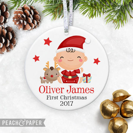 Custom Baby Christmas personalized ornament