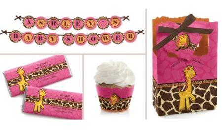 pink giraffe party theme