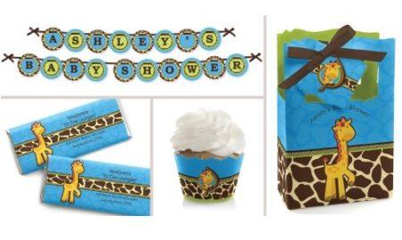 blue giraffe party supplies