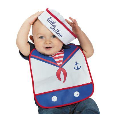 Baby Sailor Bib and Bucket hat