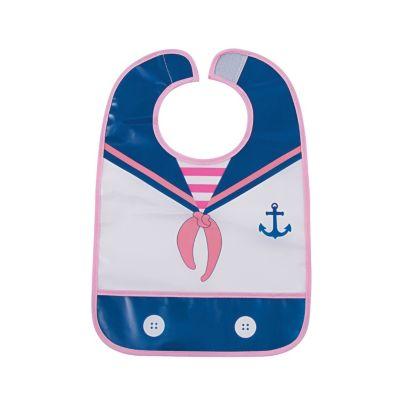 Girls sailor baby bib