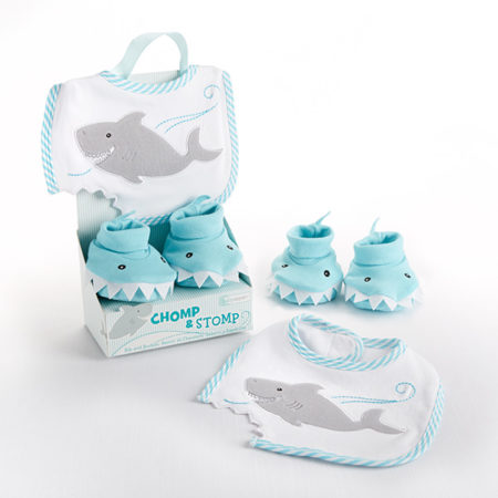 shark infant bib slippers gift