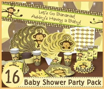 neutral monkey baby shower theme
