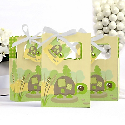 Turtle baby shower favor box