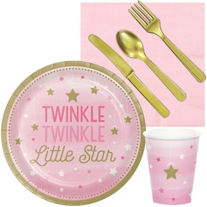 Twinkle Little star girls baby party kit