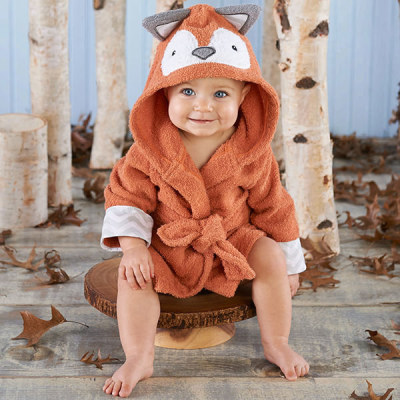 fox infant hooded robe