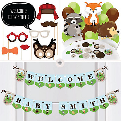 woodland animals baby shower party decorations