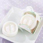 Baby Footprints soap party favors