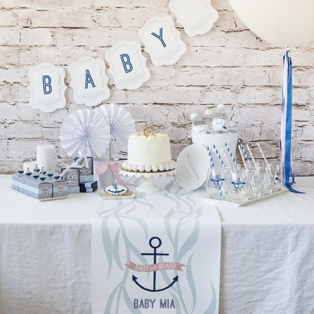 nautical sailor baby shower party supplies